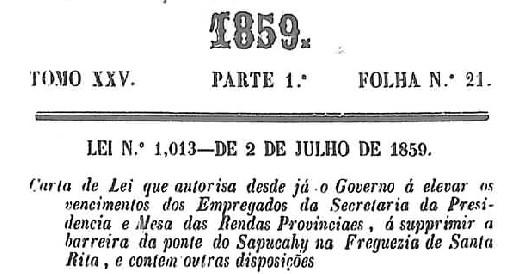 Texto lei 1013, de 1859