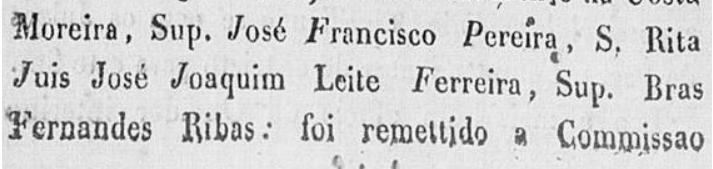 Ata da Câmara de Campanha, de maio de 1829, publicada no Jornal o Astro de Minas, com os nomes do Juiz de Paz e suplentes eleitos.